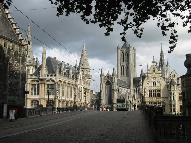 Ghent, bridge of Sint-Michiels